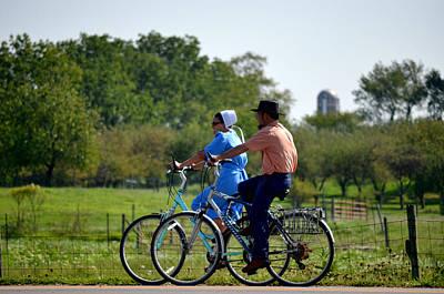 Amish Bike Ride Poster by Jeffrey Platt