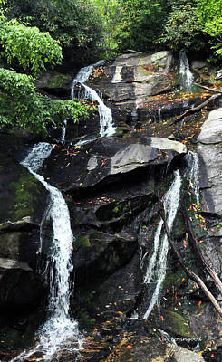 Ammons Creek Falls Poster by Kay Lovingood