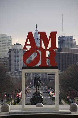 Amor - Philadelphia In Mirror Poster by Bill Cannon