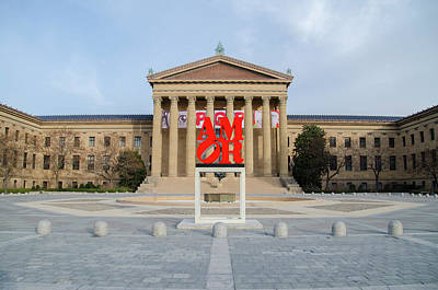 Amor - The Philadelphia Museum Of Art Poster by Bill Cannon