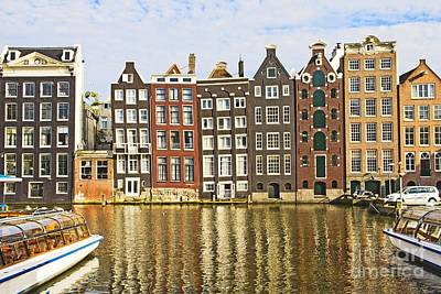 Amsterdam Canal Poster by Giancarlo Liguori