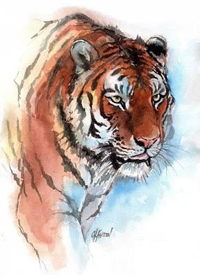 Amur Tiger Poster by Christine Karron