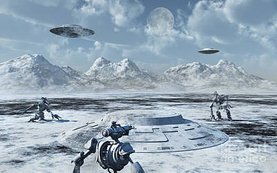 An Alien Base Located In The Antarctic Poster by Mark Stevenson