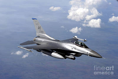 An F-16 Fighting Falcon Prepares Poster by Stocktrek Images