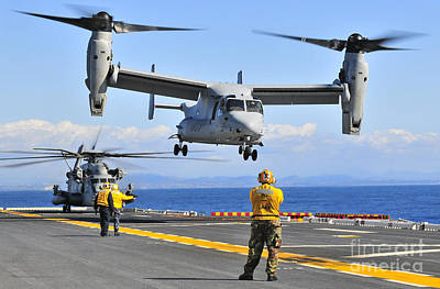 An Mv-22 Osprey Takes Poster by Stocktrek Images