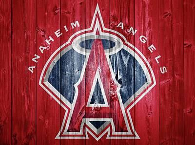 Anaheim Angels Barn Door Poster by Dan Sproul