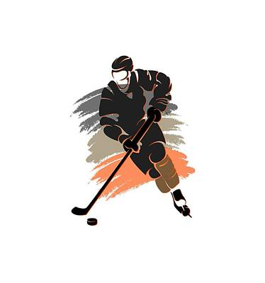 Anaheim Ducks Player Shirt Poster by Joe Hamilton