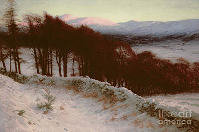 And All The Air A Solemn Silence Holds Poster by Joseph Farquharson