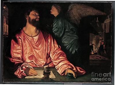 Angel Artist Giovanni Gerolamo Poster by Saint Matthew