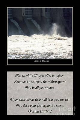 Angel In The Mist Plus Verse Poster by Geraldine DeBoer
