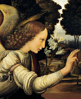 Angel Poster by Leonardo Da Vinci