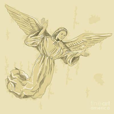 Angel With Arms Spread Poster by Aloysius Patrimonio