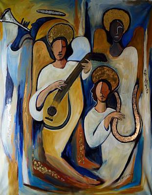 Angelic Choir Poster by Valerie Vescovi