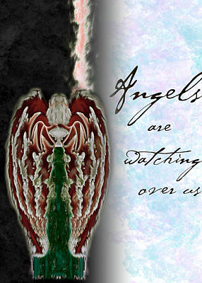 Angels Are Watching Over Us Poster by Christopher Gaston