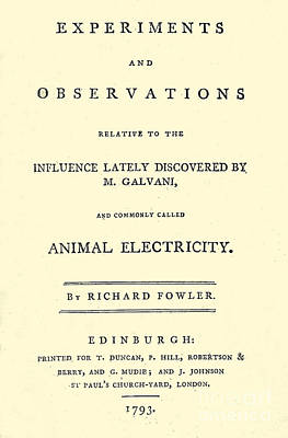 Animal Electricity, Title Page Poster by Wellcome Images