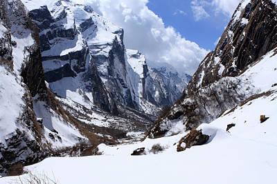 Annapurna Mountain Trail Poster by Aidan Moran