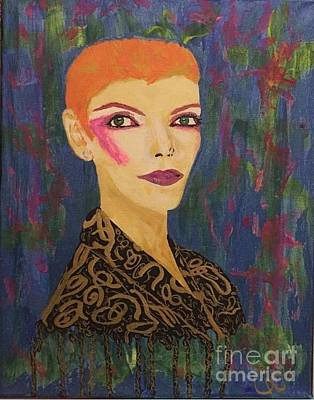 Annie Does Bowie Poster by Caitlin Cherner
