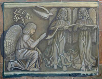 Annunciation - Existing Fragment Poster by Anna Folkartanna Maciejewska-Dyba