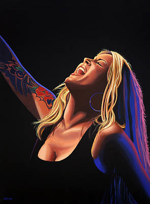 Anouk In Concert Painting Poster by Paul Meijering