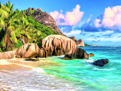 Anse Source D'argent Seychelles Poster by Dominic Piperata