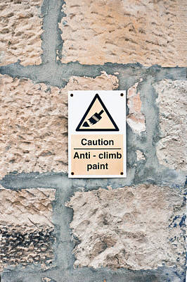 Anti-climb Paint Poster by Tom Gowanlock