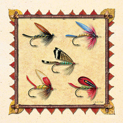 Antique Fly Panel Creme Poster by JQ Licensing