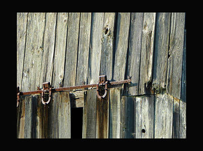Antique Hinges Poster by Tina M Wenger