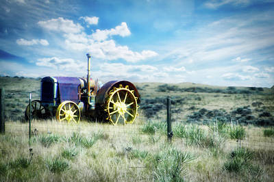 Antique Western Tractor Poster by Thomas Woolworth