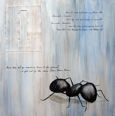 Ants Marching 1 Poster by Kristin Llamas