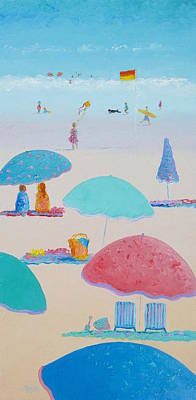 Anyone For The Beach Poster by Jan Matson