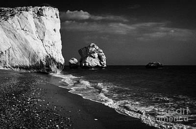 Aphrodites Rock Petra Tou Romiou Republic Of Cyprus Poster by Joe Fox