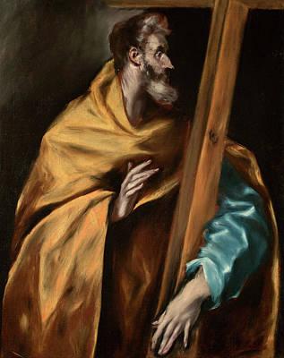 Apostle Saint Philip Poster by El Greco