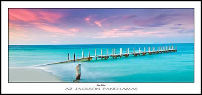 Aqua Waters Poster Print Poster by Az Jackson
