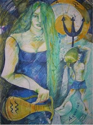 Aquarius Poster by Brigitte Hintner