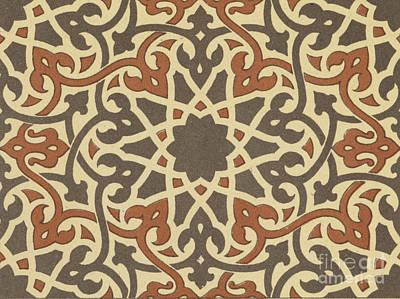 Arabian-moresque, Mosaic Textile Pattern Poster by Arabian School