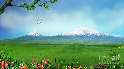 Araratian Field Poster by Bedros Awak