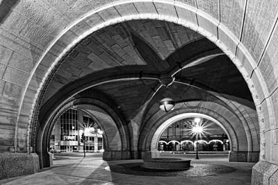 Arched In Black And White Poster by CJ Schmit