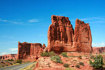 Arches National Park From A Utah Highway Poster by Corey Ford