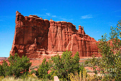 Arches National Park, Utah Usa - Tower Of Babel, Courthouse Tower Poster by Corey Ford