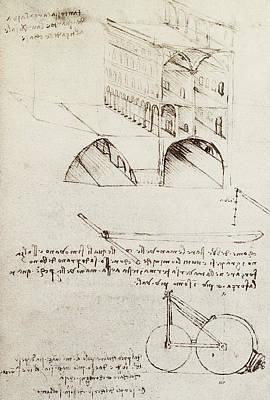 Architectural Study Poster by Leonardo Da Vinci
