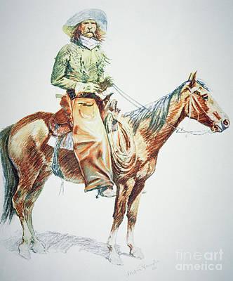 Arizona Cowboy, 1901 Poster by Frederic Remington