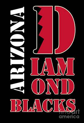 Arizona Diamondbacks Baseball Typography Poster by Pablo Franchi