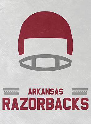 Arkansas Razorbacks Vintage Football Art Poster by Joe Hamilton