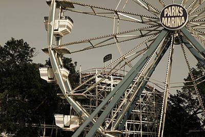 Arnolds Park Ferris Wheel Poster by Gary Gunderson