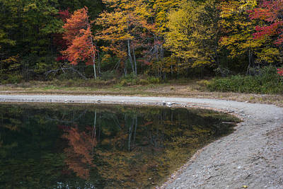 Around The Bend- Hiking Walden Pond In Autumn Poster by Toby McGuire
