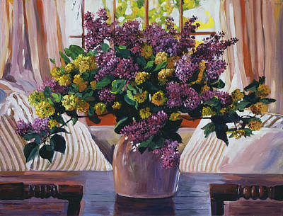 Arrangement In Lavender Poster by David Lloyd Glover