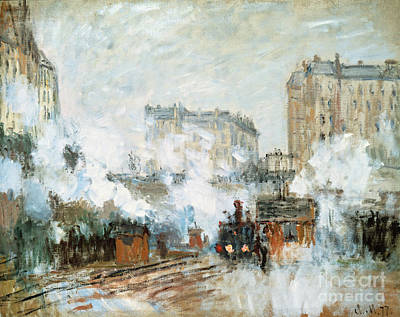 Arrival Of A Train Poster by Claude Monet