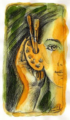 Art Of Listening Poster by Leon Zernitsky