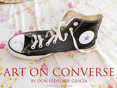 Art On Converse Black Converse All Star Poster by Don Pedro De Gracia