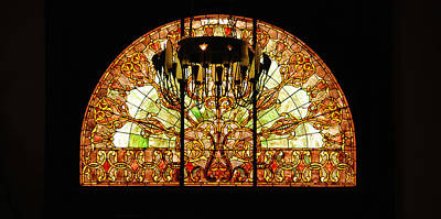 Artful Stained Glass Window Union Station Hotel Nashville Poster by Susanne Van Hulst